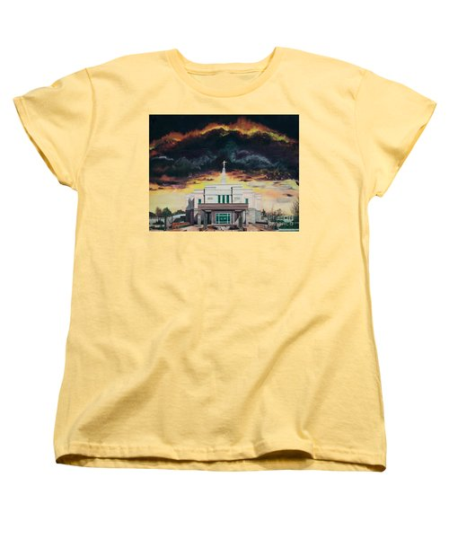 Women's T-Shirt (Standard Cut) featuring the painting Stand In Holy Places by Jane Autry