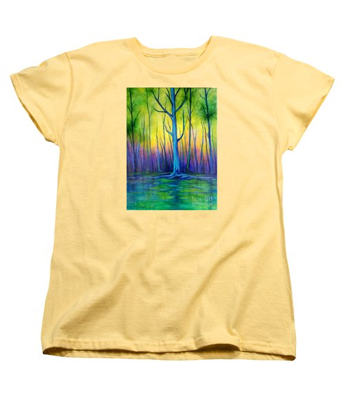 Women's T-Shirt (Standard Cut) featuring the painting Standing Tall  by Alison Caltrider