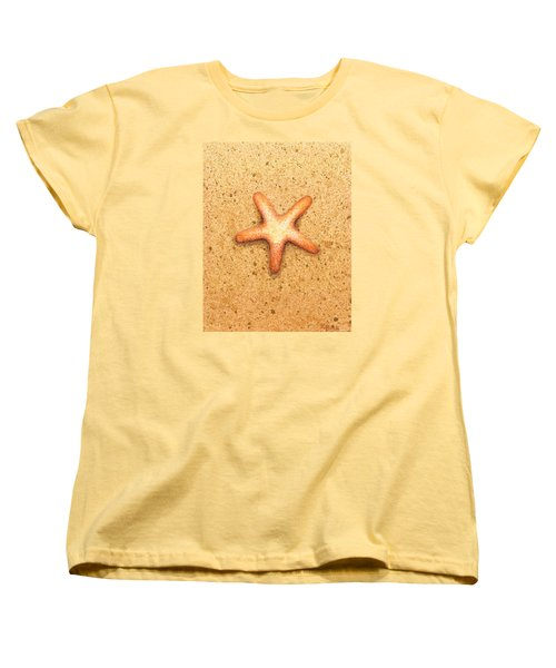 Women's T-Shirt (Standard Cut) featuring the painting Star Fish by Katherine Young-Beck