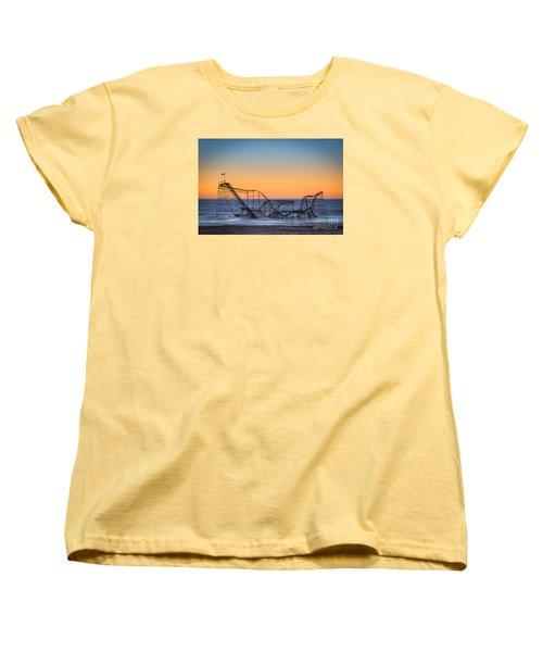 Star Jet Roller Coaster Ride  Women's T-Shirt (Standard Cut) by Michael Ver Sprill