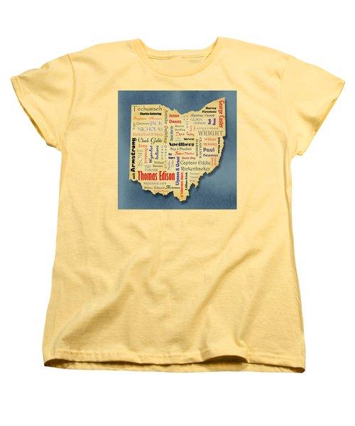 States - Famous Ohio Women's T-Shirt (Standard Cut) by Ron Grafe