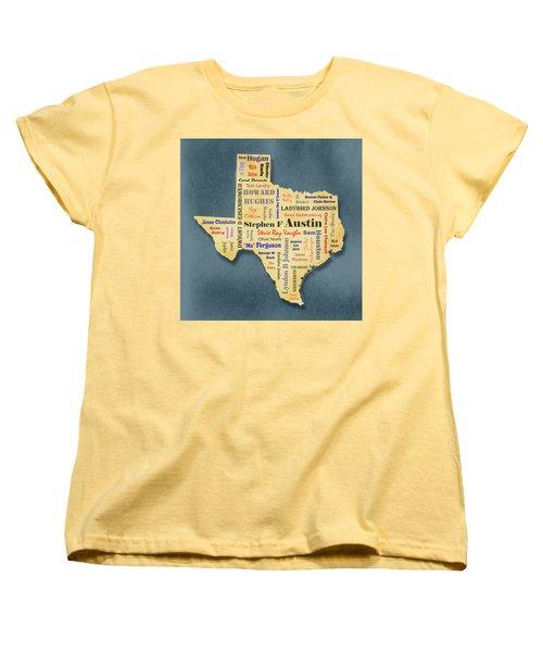 States - Famous Texas Women's T-Shirt (Standard Cut) by Ron Grafe