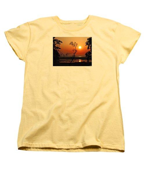 Steamy Summer Sunrise Women's T-Shirt (Standard Cut) by Laura Ragland