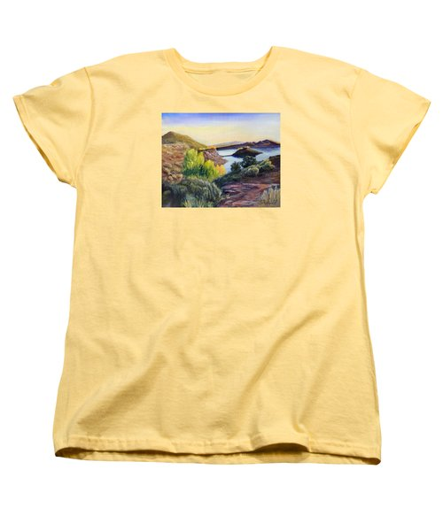 Women's T-Shirt (Standard Cut) featuring the painting Steinaker by Sherril Porter