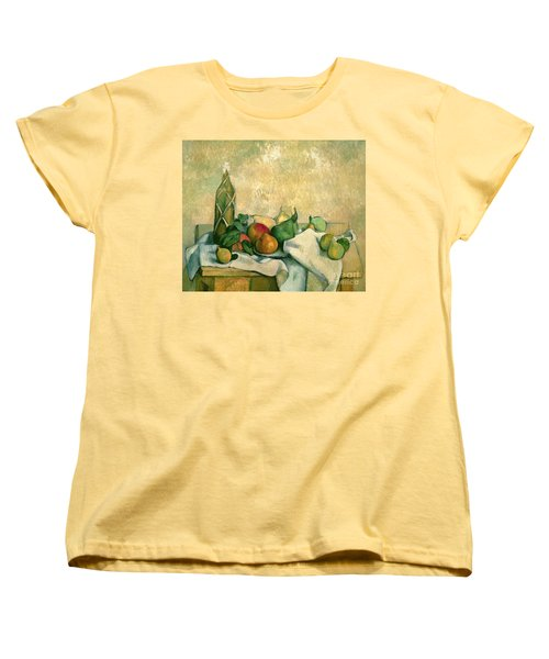 Still Life With Bottle Of Liqueur Women's T-Shirt (Standard Cut) by Paul Cezanne