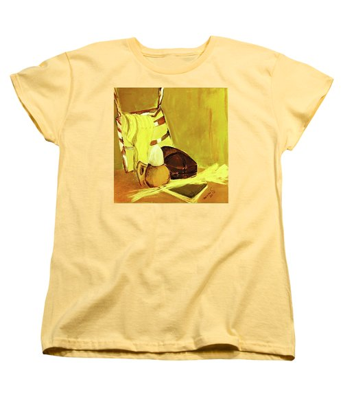 Women's T-Shirt (Standard Cut) featuring the pastel Still Life With Wool Socks by Manuela Constantin
