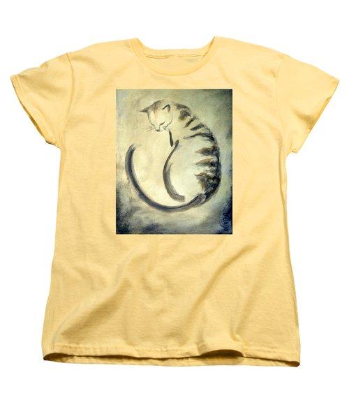 Stripey Cat 1  Women's T-Shirt (Standard Cut) by Dina Dargo