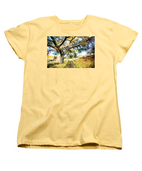 Strolling Down The Path Women's T-Shirt (Standard Cut) by Carol Crisafi