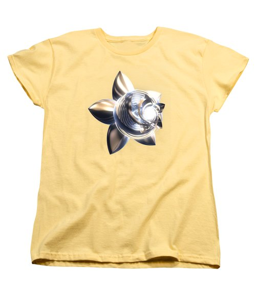 Women's T-Shirt (Standard Cut) featuring the digital art Stylized Abstract Light by Linda Phelps