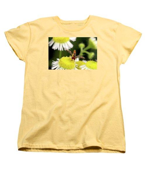 Women's T-Shirt (Standard Cut) featuring the photograph Sugar Bee Wings by Meta Gatschenberger