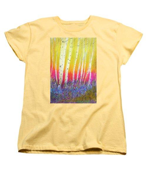 Summer Birch  Women's T-Shirt (Standard Cut) by Linde Townsend
