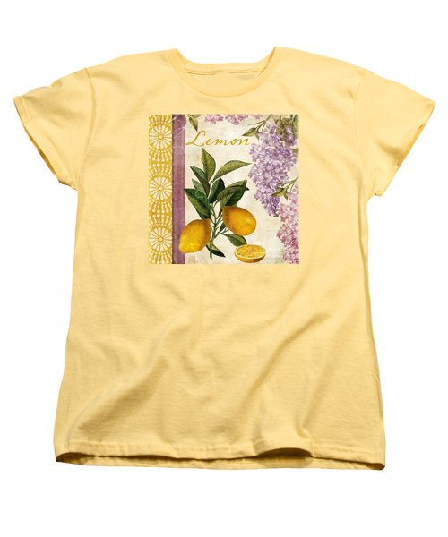 Summer Citrus Lemon Women's T-Shirt (Standard Cut) by Mindy Sommers