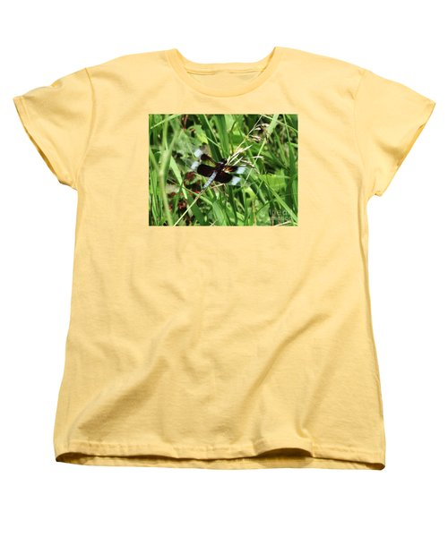 Women's T-Shirt (Standard Cut) featuring the photograph  Summer Dragons by J L Zarek