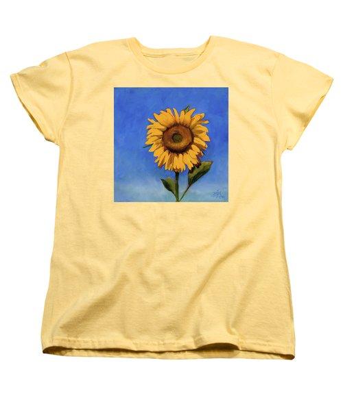 Women's T-Shirt (Standard Cut) featuring the painting Summer Fun by Billie Colson