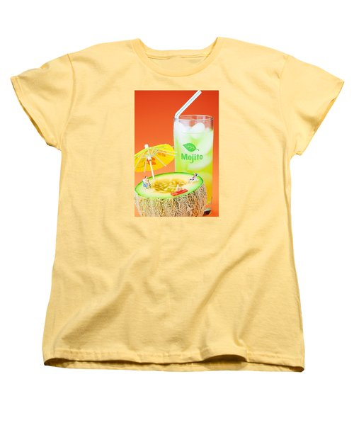 Women's T-Shirt (Standard Cut) featuring the photograph Summer Memory Little People On Food by Paul Ge