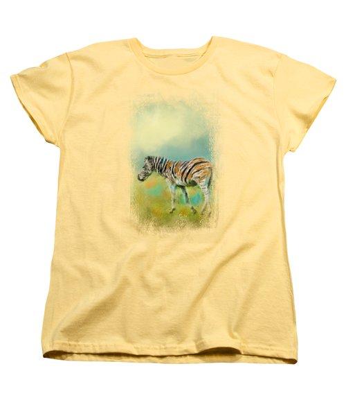 Summer Zebra 2 Women's T-Shirt (Standard Cut) by Jai Johnson