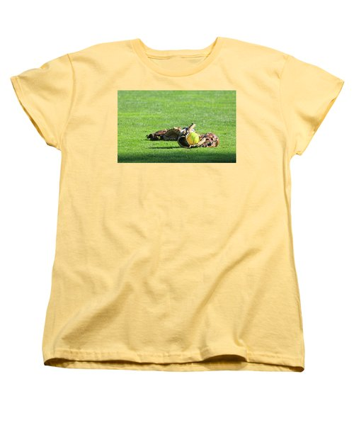 Sun Bathing Women's T-Shirt (Standard Cut) by Laddie Halupa