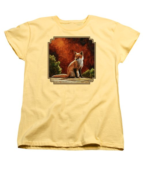 Sun Fox Women's T-Shirt (Standard Cut)