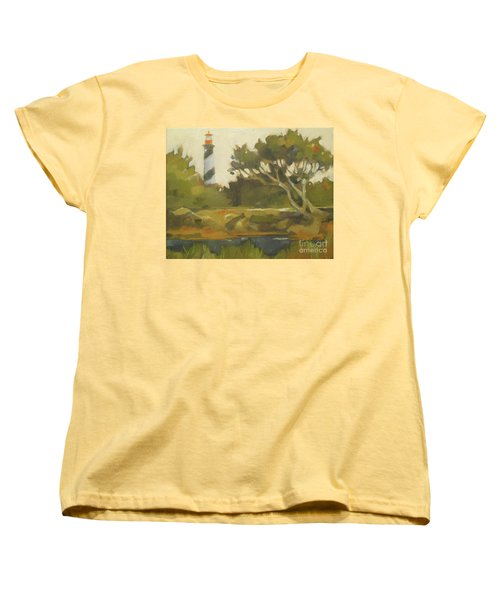 Sunday Lighthouse Women's T-Shirt (Standard Cut) by Mary Hubley