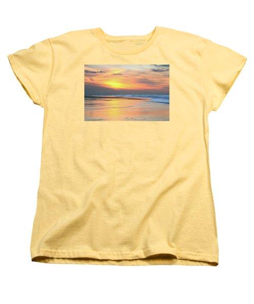 Women's T-Shirt (Standard Cut) featuring the photograph Sundown At Race Point Beach by Roupen  Baker
