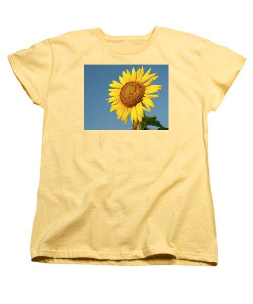 Sunflower And Blue Sky Women's T-Shirt (Standard Cut) by Phyllis Peterson