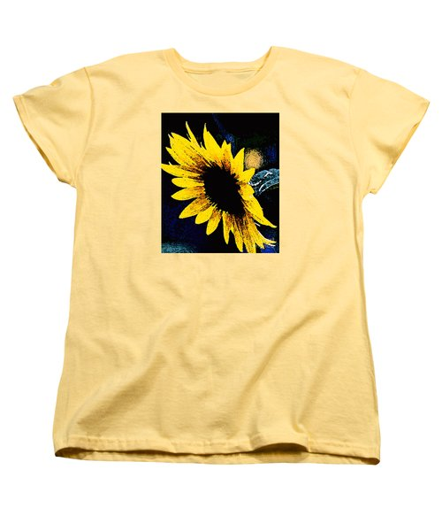 Sunflower Art  Women's T-Shirt (Standard Cut) by Juls Adams