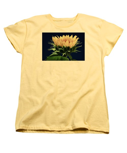 Women's T-Shirt (Standard Cut) featuring the photograph Sunflower Foliage And Petals by Chris Berry