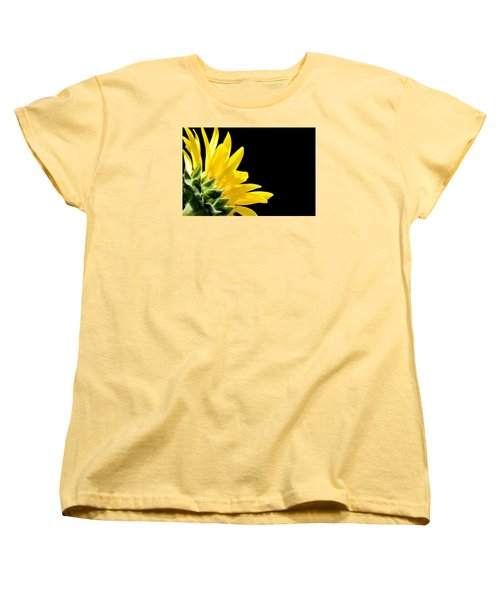 Sunflower On Black Women's T-Shirt (Standard Cut)