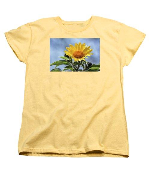 Women's T-Shirt (Standard Cut) featuring the photograph Sunflower  by Saija Lehtonen