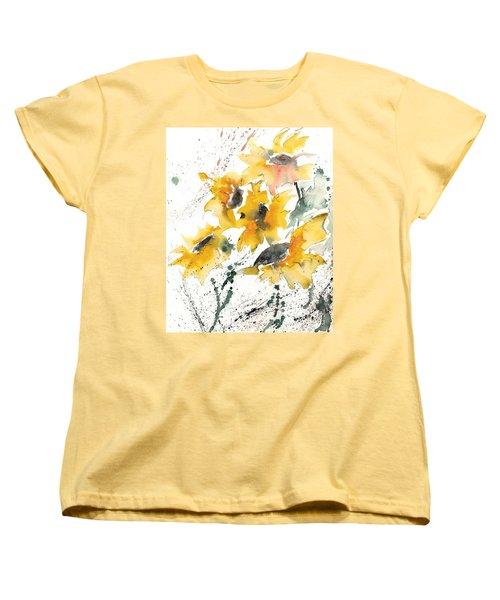 Sunflowers 10 Women's T-Shirt (Standard Cut) by Ismeta Gruenwald