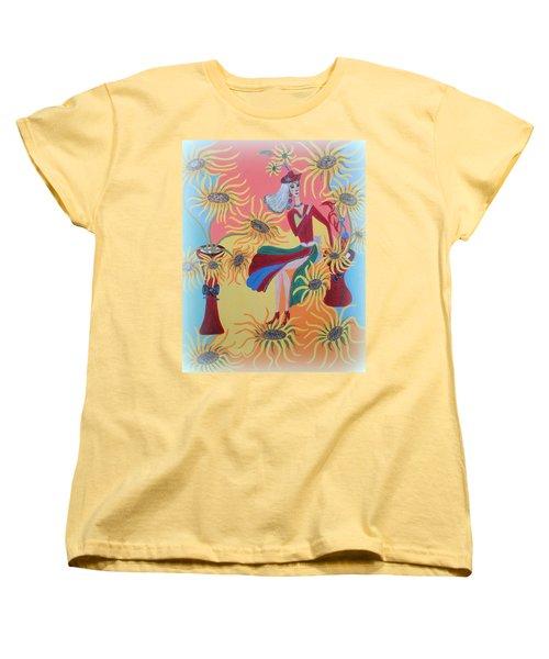 Sunflower's Contessa  Women's T-Shirt (Standard Cut) by Marie Schwarzer