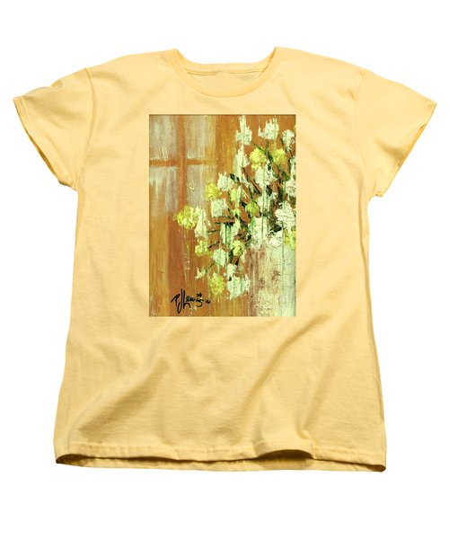Sunny Flowers Women's T-Shirt (Standard Cut) by P J Lewis