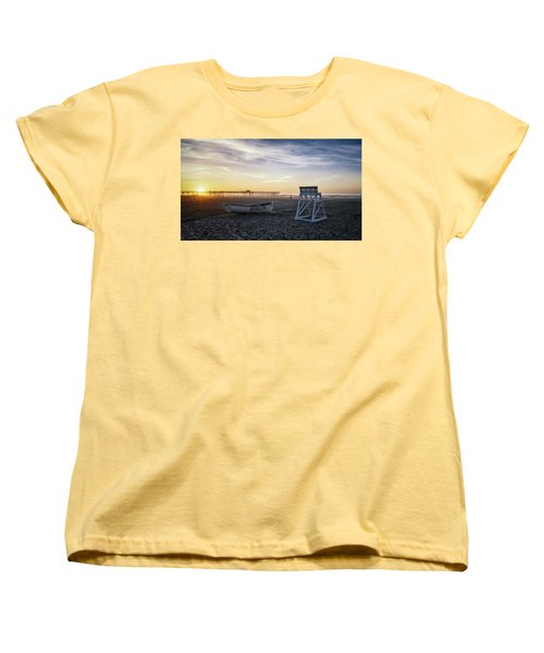 Sunrise In Avalon Women's T-Shirt (Standard Cut) by Eduard Moldoveanu