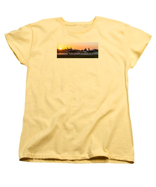 Sunset At Raf Lakenheath Women's T-Shirt (Standard Cut) by Tim Beach