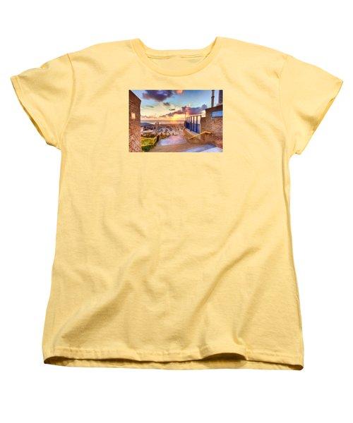 Sunset By The Sea Women's T-Shirt (Standard Cut) by Nadia Sanowar