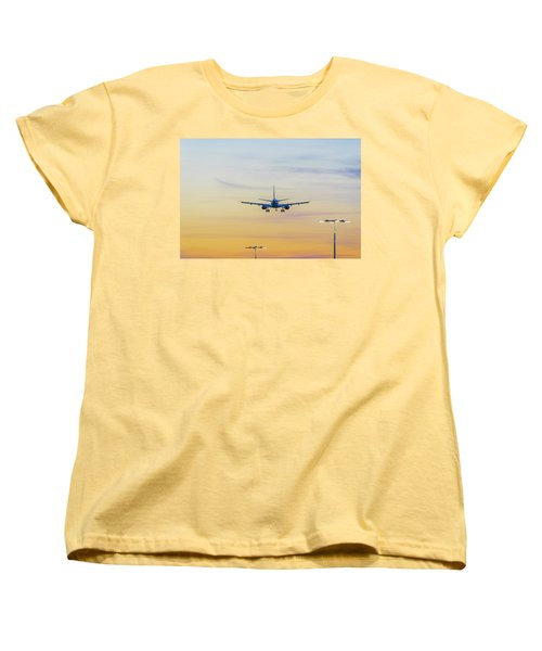 Sunset Flight Women's T-Shirt (Standard Cut) by Ross G Strachan