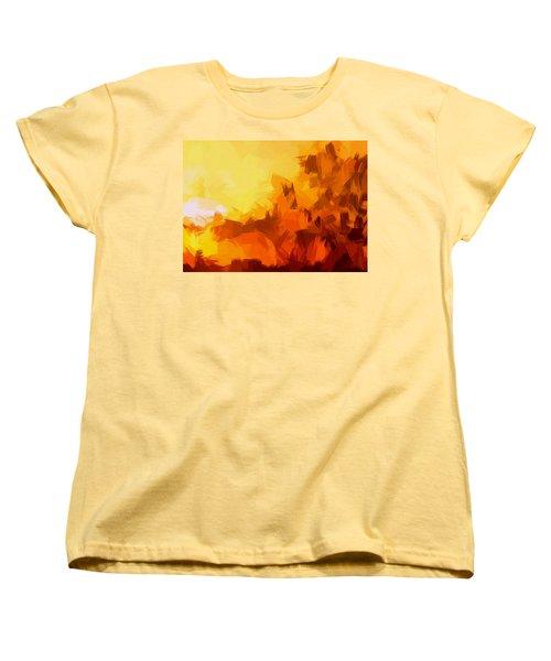 Sunset In Valhalla Women's T-Shirt (Standard Cut) by Paulo Guimaraes
