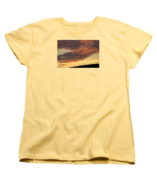 Sunset On Hunton Lane #7 Women's T-Shirt (Standard Cut) by Carlee Ojeda