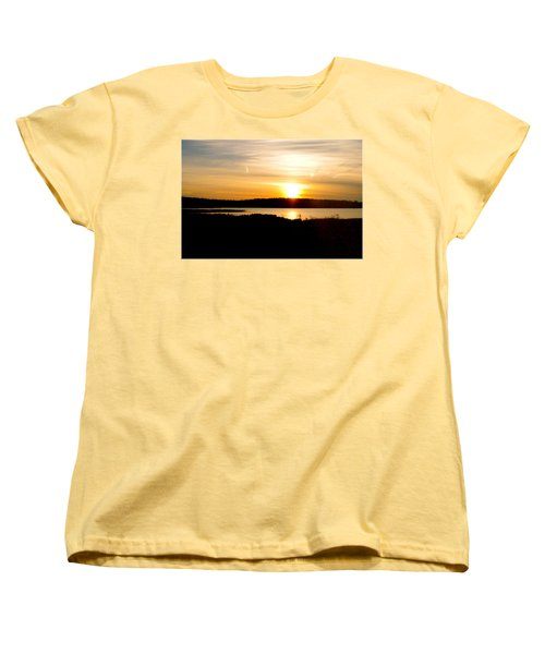 Sunset On Morrison Beach Women's T-Shirt (Standard Cut) by Jason Lees