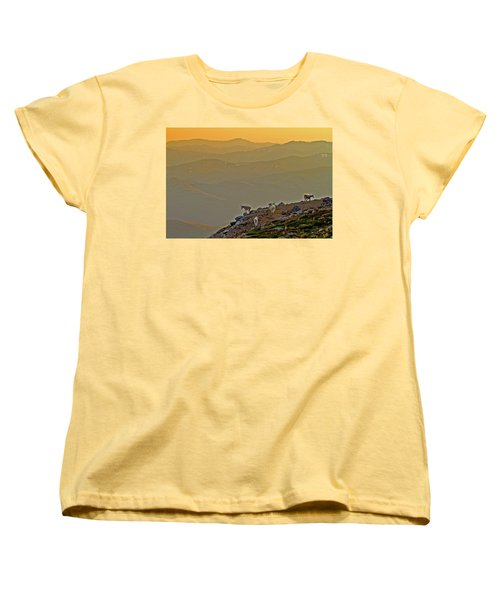Women's T-Shirt (Standard Cut) featuring the photograph Sunset On The Edge by Scott Mahon