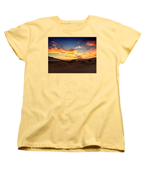 Sunset Over The Desert Women's T-Shirt (Standard Cut) by Chris Tarpening