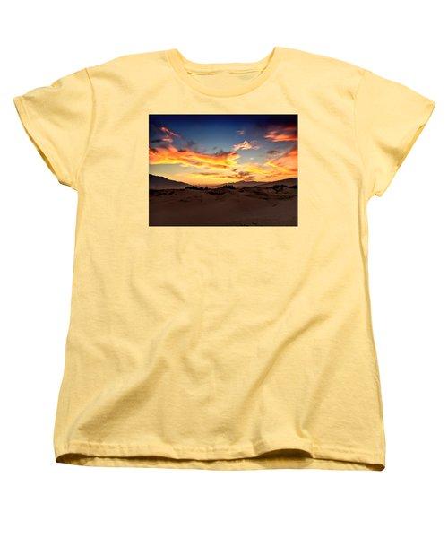 Sunset Over The Desert Women's T-Shirt (Standard Cut)