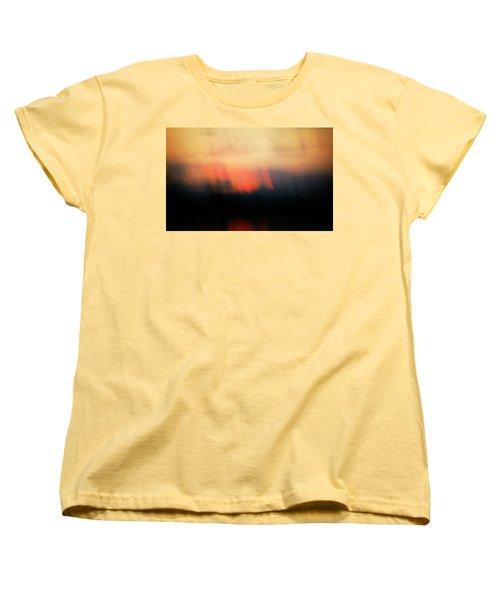Women's T-Shirt (Standard Cut) featuring the photograph Sunset Raining Down by Marilyn Hunt