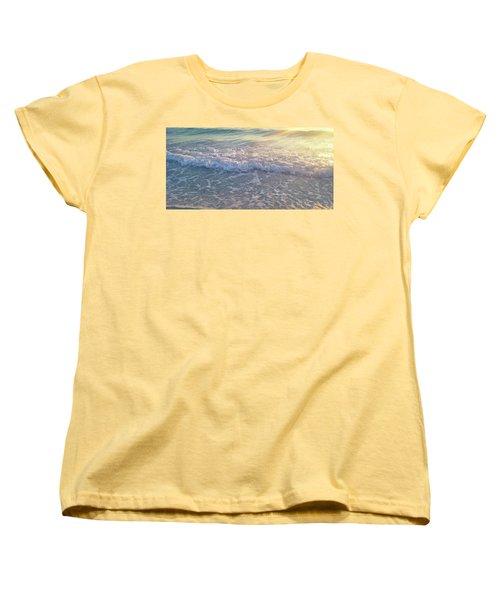 Women's T-Shirt (Standard Cut) featuring the photograph Sunset Tide by Ginny Schmidt