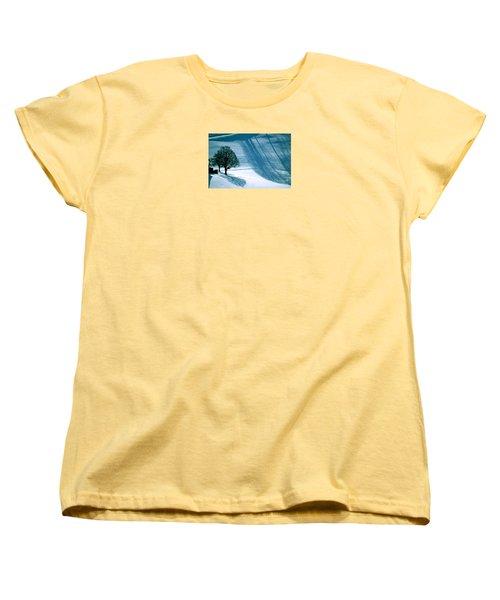 Women's T-Shirt (Standard Cut) featuring the photograph Sunshine And Shadows - Winterwonderland by Susanne Van Hulst