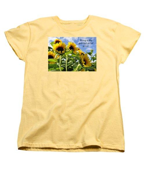 Women's T-Shirt (Standard Cut) featuring the photograph Sunshine Lollipops Grace by Diane E Berry