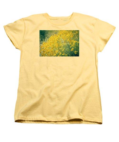 Superbloom Golden Yellow Women's T-Shirt (Standard Cut) by Amyn Nasser