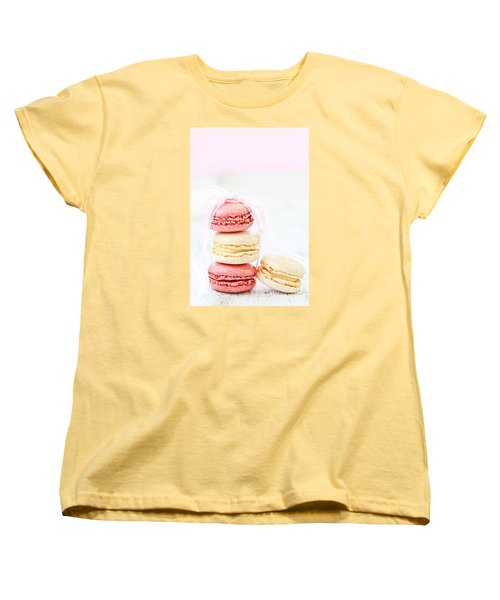 Sweet French Macarons Women's T-Shirt (Standard Cut) by Stephanie Frey