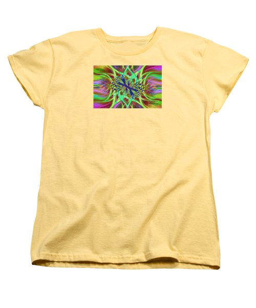 Swirly Floral Mandala 01 Women's T-Shirt (Standard Cut) by Jack Torcello