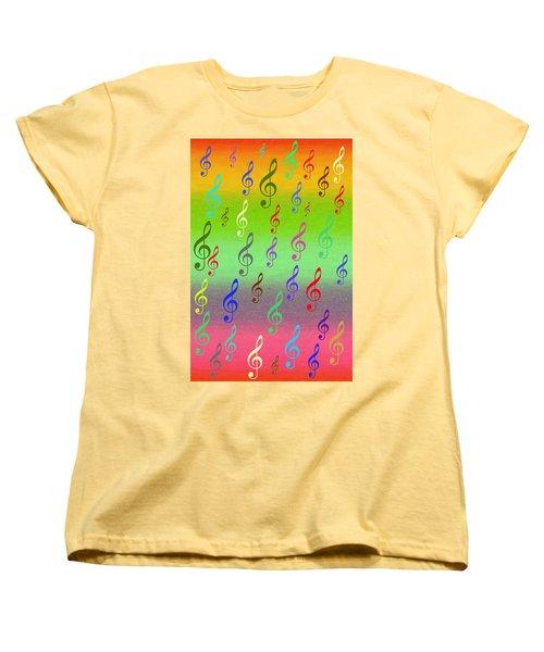 Women's T-Shirt (Standard Cut) featuring the digital art Symphony Of Colors by Angel Jesus De la Fuente